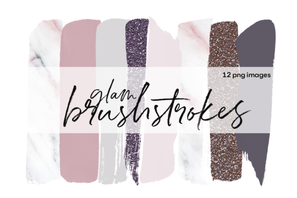 Brushstrokes - Glam and Girly Graphic Illustrations By KA Designs