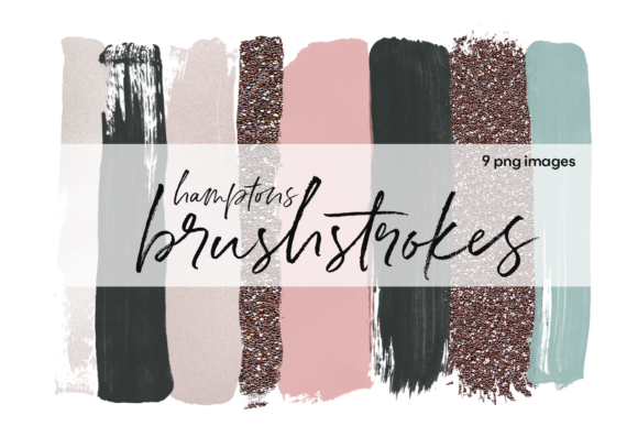 Brushstrokes - Hamptons Graphic Illustrations By KA Designs