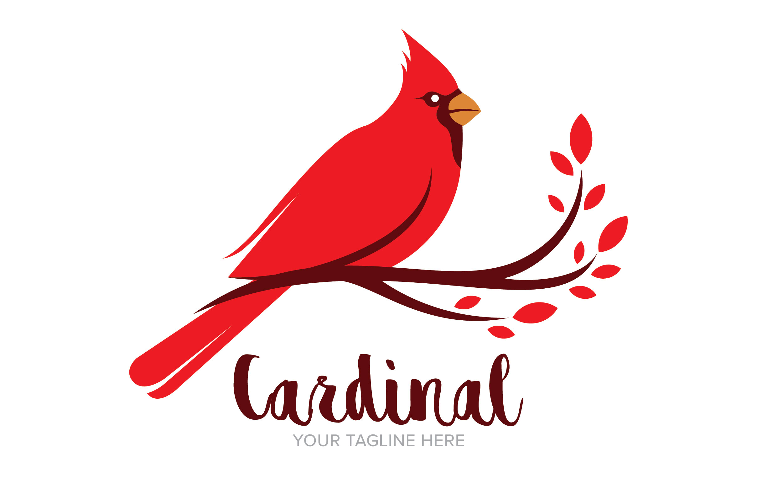 Download Free Cardinal Bird Logo Design Graphic By Nuranitalutfiana92 for Cricut Explore, Silhouette and other cutting machines.