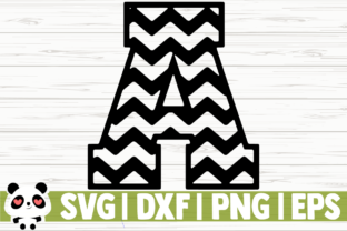 Download Free Chevron Font Numbers And Letters Grafico Por for Cricut Explore, Silhouette and other cutting machines.