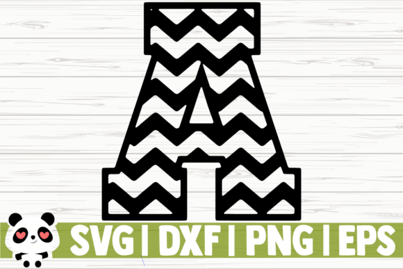 Print on Demand: Chevron Font (Numbers and Letters) Graphic Illustrations By CreativeDesignsLLC