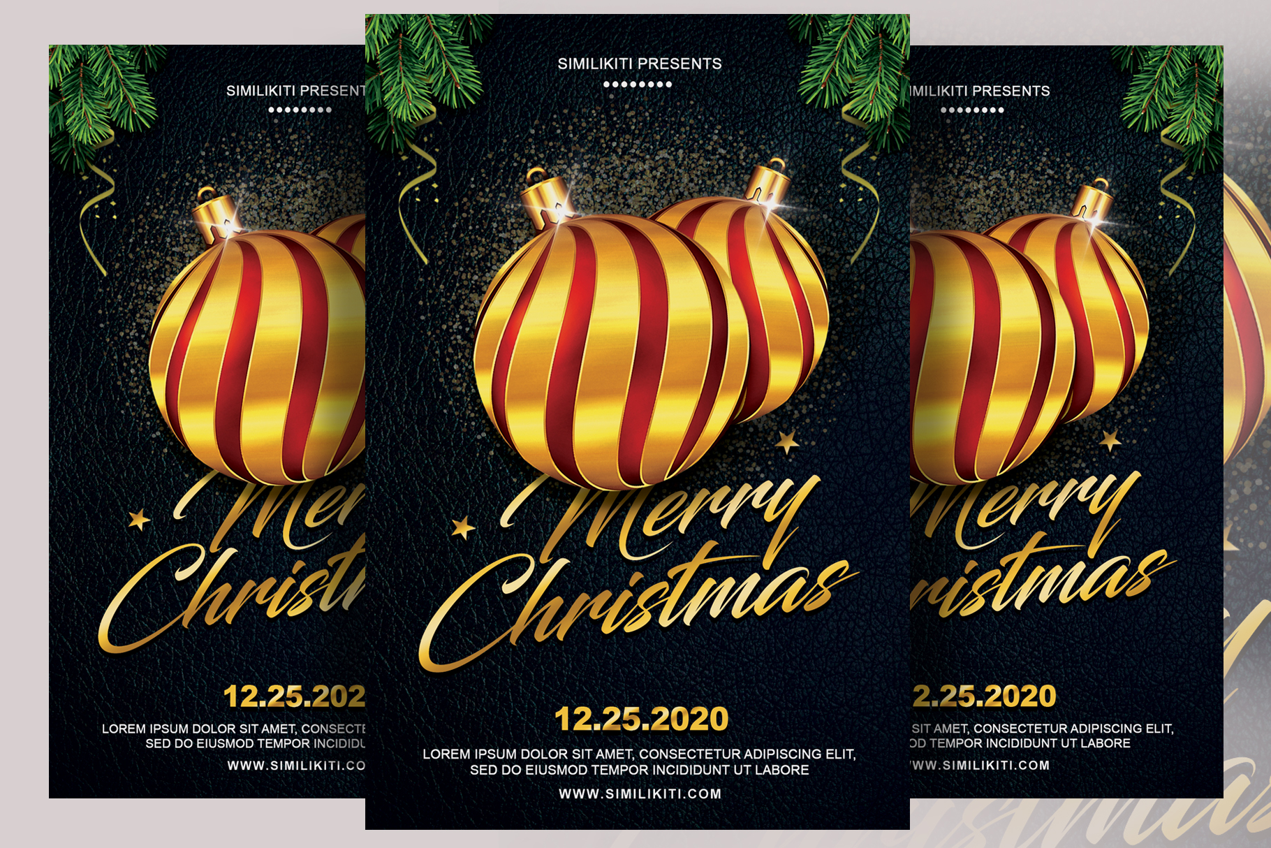 Download Free Christmas Flyer Graphic By Ayumadesign Creative Fabrica for Cricut Explore, Silhouette and other cutting machines.
