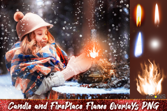 Christmas Overlays Fireplace Candle Graphic Layer Styles By 2SUNS