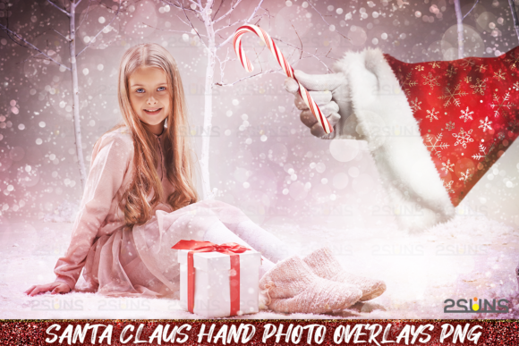 Christmas Overlays Santa Claus Hand Graphic Layer Styles By 2SUNS