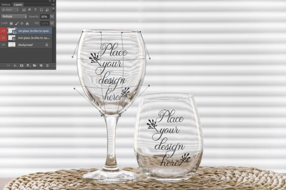Print on Demand: Classic Wine Glass + No Stem Tumbler Graphic Product Mockups By Leo Flo Mockups - Image 2