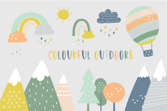 Print on Demand: Colourful Outdoors Graphic Illustrations By poppymoondesign