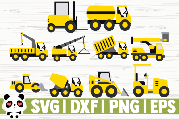 Print on Demand: Construction Vehicles Graphic Illustrations By CreativeDesignsLLC