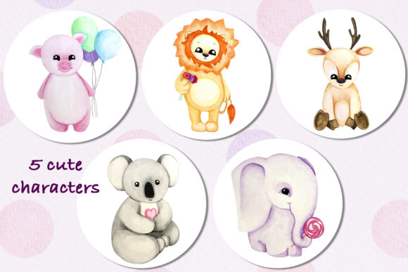 Download Free Cute Animals Sweets Collection Graphic By Vera Vero Creative for Cricut Explore, Silhouette and other cutting machines.