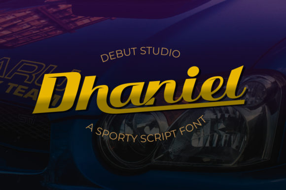 Print on Demand: Dhaniel Display Font By Debut Studio