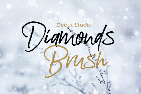 Print on Demand: Diamonds Manuscrita Fuente Por Debut Studio