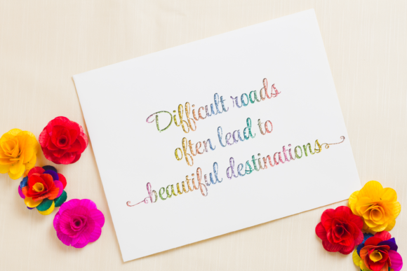 Download Free Difficult Roads Often Lead To Beautiful Destinations Graphic By SVG Cut Files