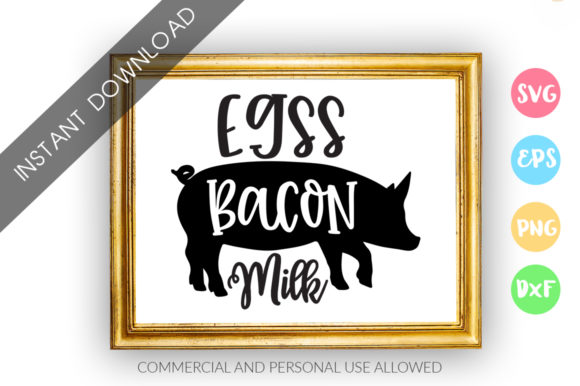 Print on Demand: Egss Bacon Milk Graphic Crafts By DesignFarm