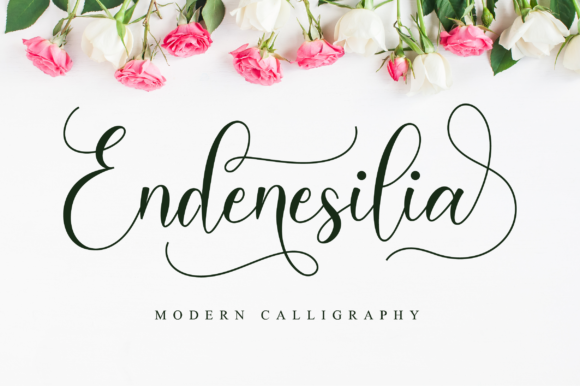 Print on Demand: Endenesilia Script & Handwritten Font By NissaStudio