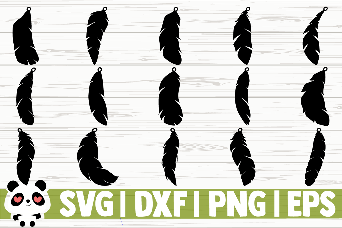 Download Free Feather Earrings Graphic By Creativedesignsllc Creative Fabrica for Cricut Explore, Silhouette and other cutting machines.