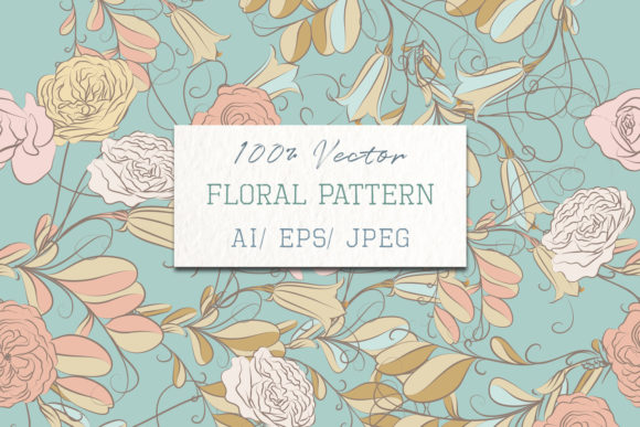 Floral Pattern with Vector Flowers Graphic Patterns By fleurartmariia