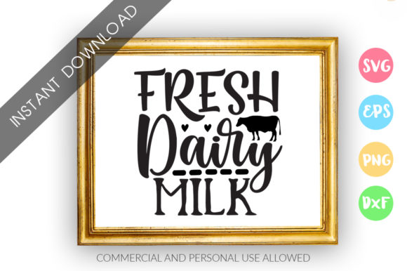 Print on Demand: Fresh Dairy Milk Graphic Crafts By DesignFarm