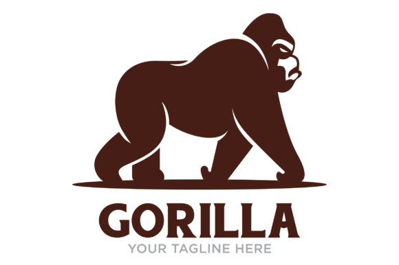 Download Free Gorilla Logo Design Graphic By Nuranitalutfiana92 Creative Fabrica for Cricut Explore, Silhouette and other cutting machines.