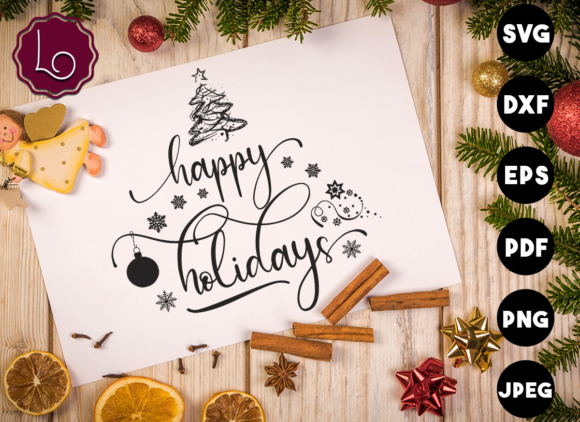 Print on Demand: Happy Holidays Graphic Crafts By La Oliveira