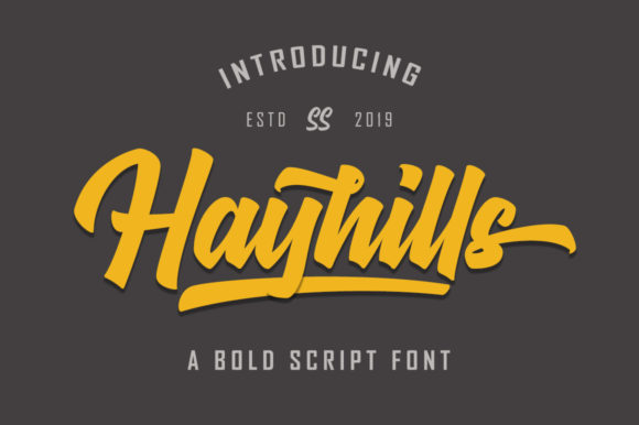 Print on Demand: Hayhills Script & Handwritten Font By Suby Store