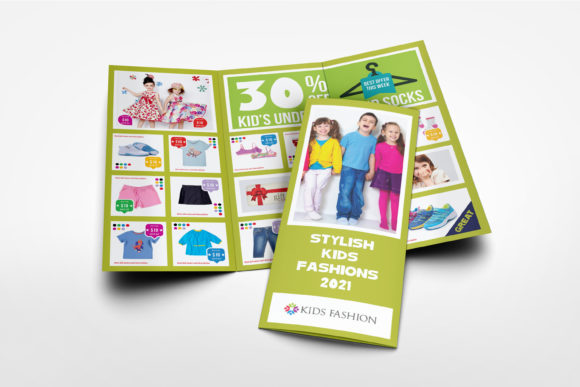 Print on Demand: Kids Fashion Products Catalog Template Graphic Print Templates By OWPictures