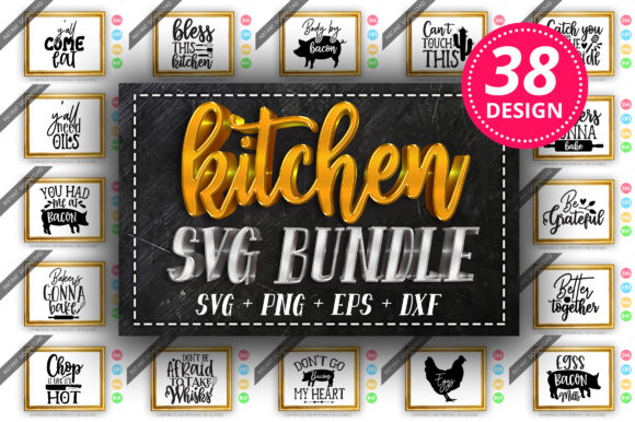 Download Free Kitchen Design Bundle Vol 1 Graphic By Designfarm Creative Fabrica for Cricut Explore, Silhouette and other cutting machines.