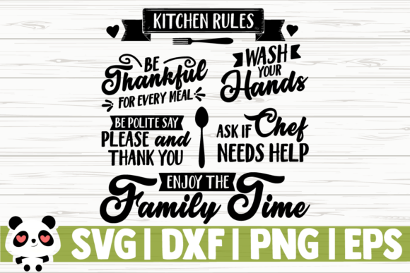 Download Free Kitchen Rules Graphic By Creativedesignsllc Creative Fabrica for Cricut Explore, Silhouette and other cutting machines.