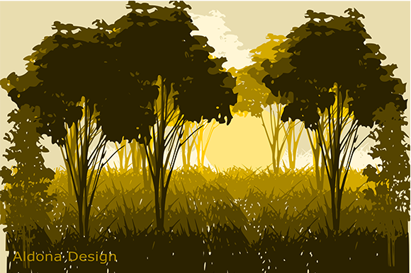 Print on Demand: Landscape Graphic Nature By arts4busykids