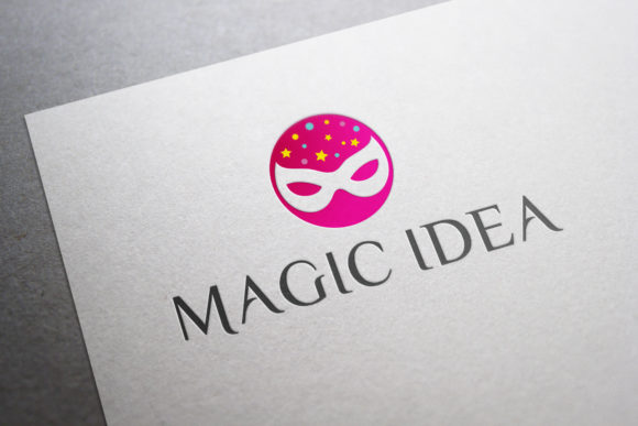 Print on Demand: Magic Idea Logo Template Graphic Logos By OWPictures