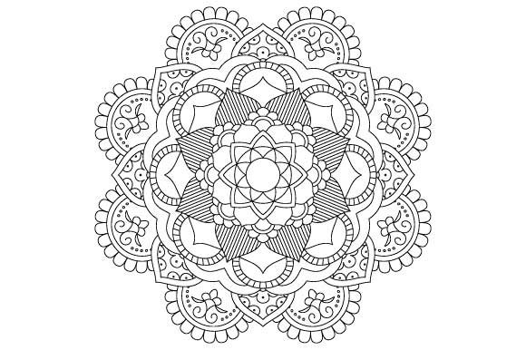 Download Free Mandala Coloring Page Vector Graphic By Graphicsfarm Creative SVG Cut Files