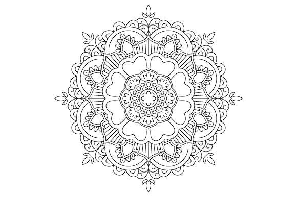 Print on Demand: Mandala Coloring Page Vector Graphic Coloring Pages & Books Adults By GraphicsFarm