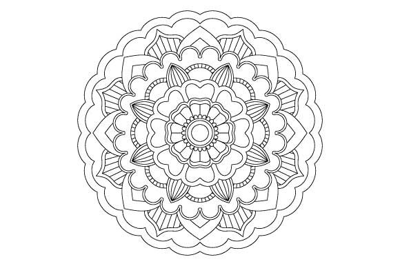 Download Free Mandala Coloring Page Graphic By Graphicsfarm Creative Fabrica for Cricut Explore, Silhouette and other cutting machines.