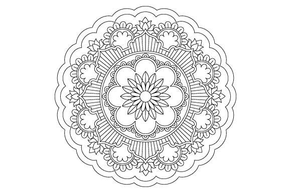Print on Demand: Mandala Coloring Page Vector Graphic Illustrations By GraphicsFarm