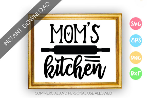 Download Free Mom S Kitchen Design Graphic By Designfarm Creative Fabrica for Cricut Explore, Silhouette and other cutting machines.