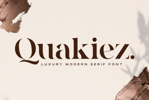 Print on Demand: Quakiez Serif Font By almarkhatype