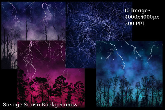 Savage Storm Backgrounds 10 Images Graphic Download