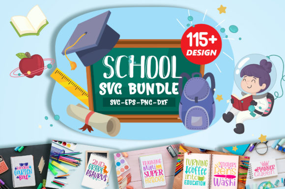 Download Free School Teacher Mega Bundle Graphic By Orindesign Creative for Cricut Explore, Silhouette and other cutting machines.