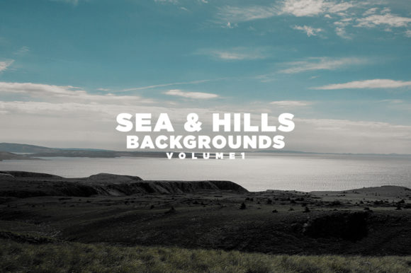 Print on Demand: Sea & Hills Backgrounds Volume 1 Graphic Nature By Mirco Zett Fonts
