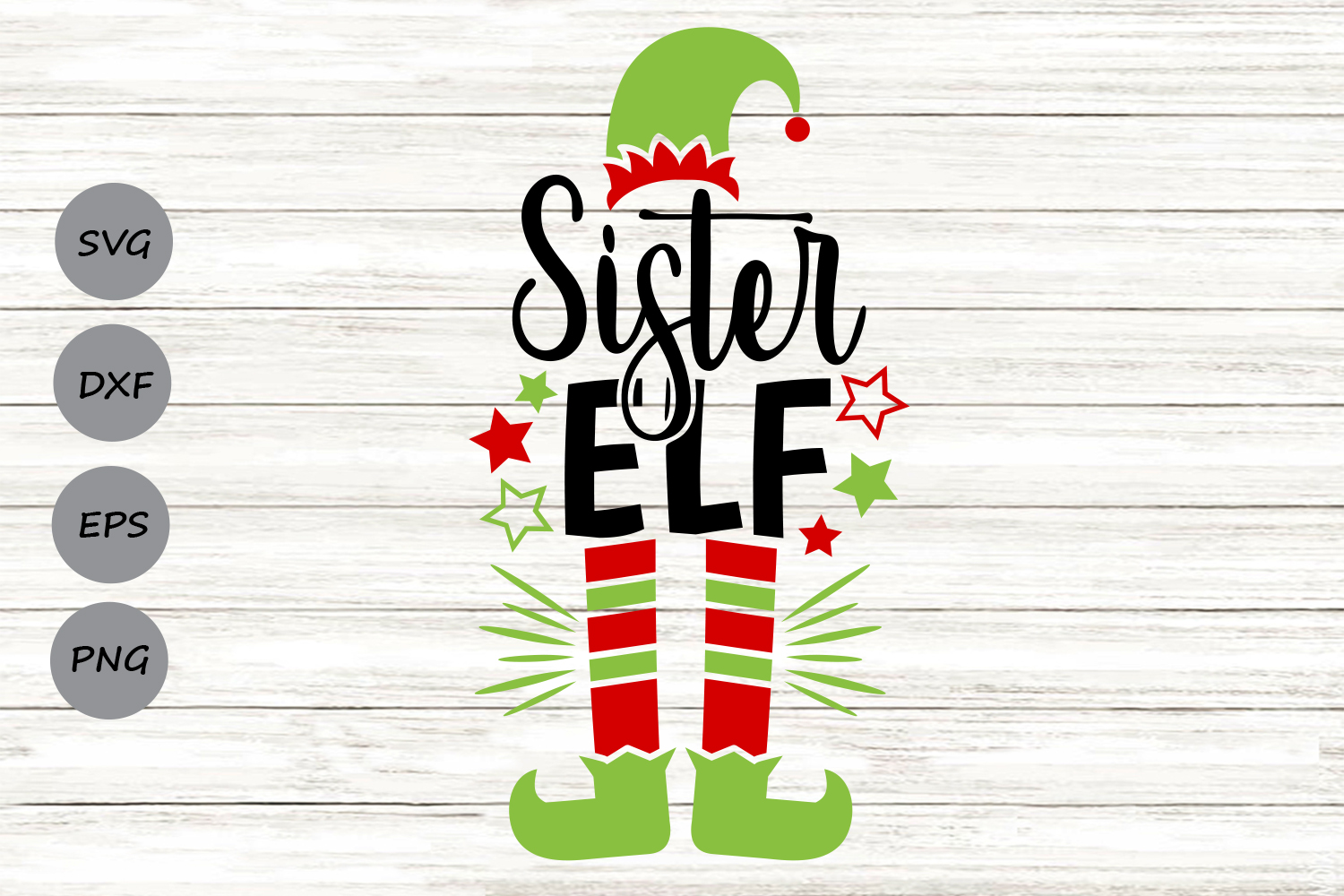 Download Free Sister Elf Graphic By Cosmosfineart Creative Fabrica for Cricut Explore, Silhouette and other cutting machines.