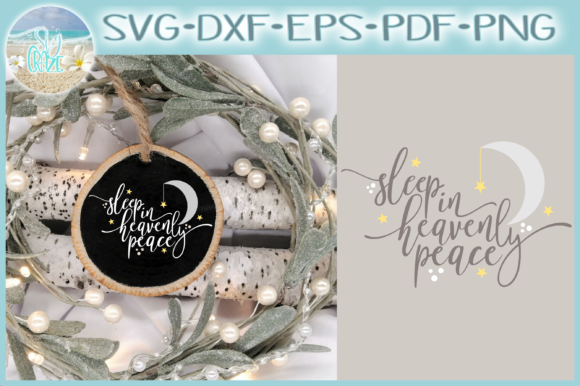 Print on Demand: Sleep in Heavenly Peace Silent Night Graphic Crafts By Harbor Grace Designs