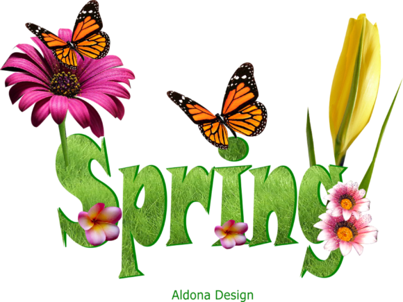 Print on Demand: Spring Text Graphic Nature By arts4busykids