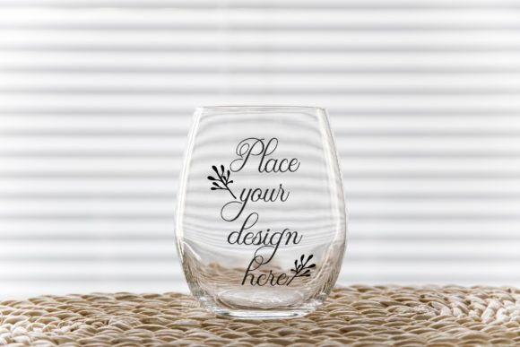 Print on Demand: Stemless Wine Glass Tumbler Mockup Graphic Product Mockups By Leo Flo Mockups - Image 1