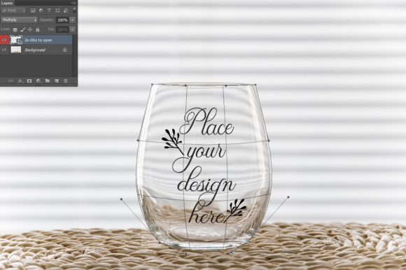 Print on Demand: Stemless Wine Glass Tumbler Mockup Graphic Product Mockups By Leo Flo Mockups - Image 2