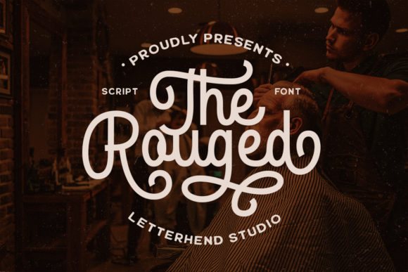 Print on Demand: The Rouged Script & Handwritten Font By letterhend