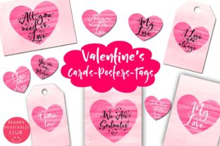 Download Free Valentines Day Cards Posters Tags Heart Graphic By Happy for Cricut Explore, Silhouette and other cutting machines.