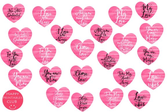 Valentines Day Cards Posters Tags Heart Graphic By Happy