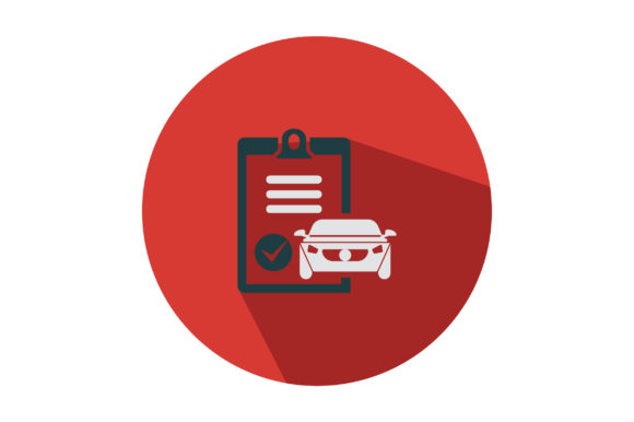 Download Free Car With Checklist Flat Icon Graphic By Riduwan Molla Creative for Cricut Explore, Silhouette and other cutting machines.