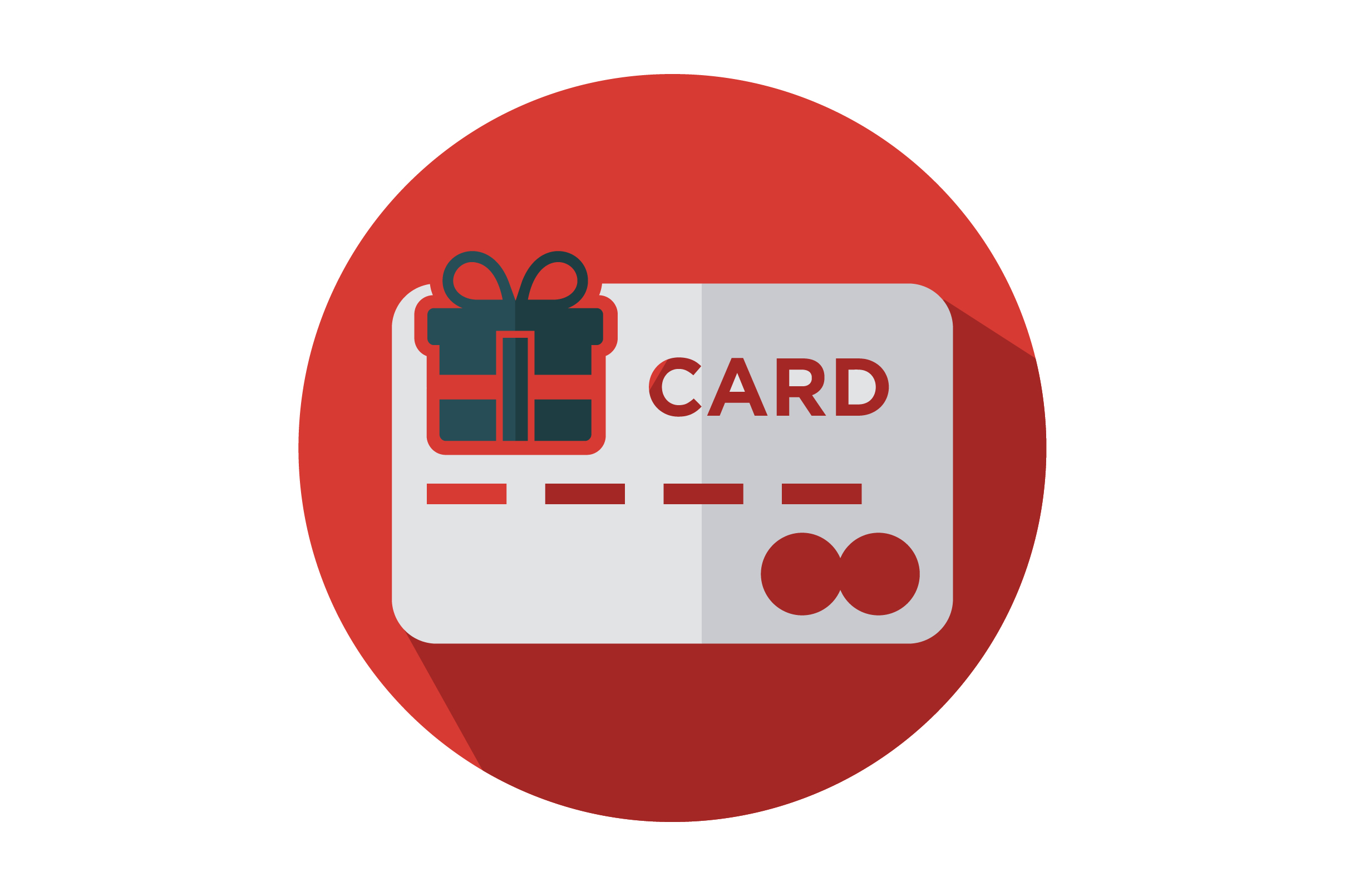 Download Free Credit Card With Gift Box Flat Icon Graphic By Riduwan Molla for Cricut Explore, Silhouette and other cutting machines.