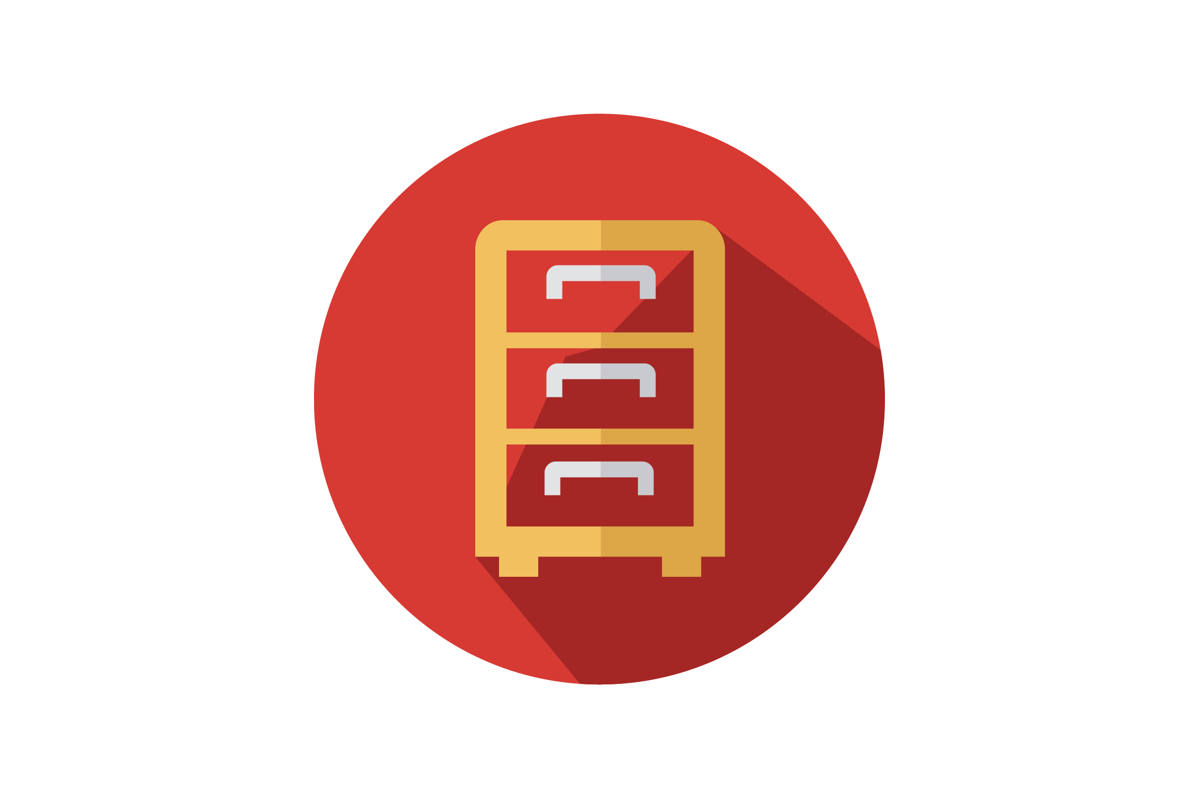 Drawers Flat Vector Icon Graphic By Riduwan Molla Creative Fabrica