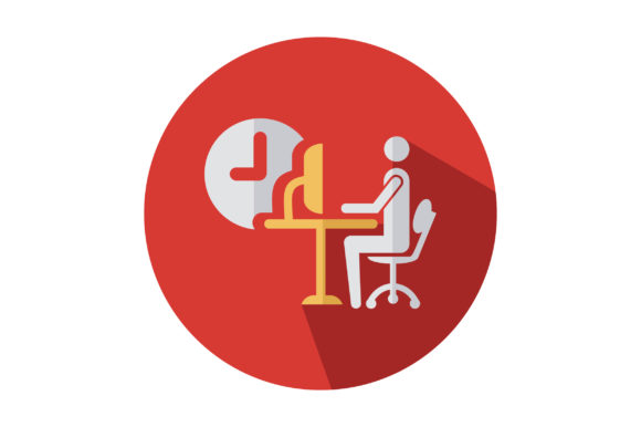 Download Free Man Sit In Office Chair Icon Graphic By Riduwan Molla Creative for Cricut Explore, Silhouette and other cutting machines.