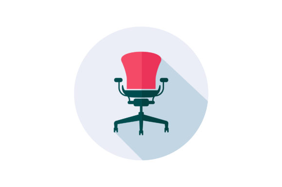 Download Free Office Chair Flat Icon Vector Graphic By Riduwan Molla for Cricut Explore, Silhouette and other cutting machines.